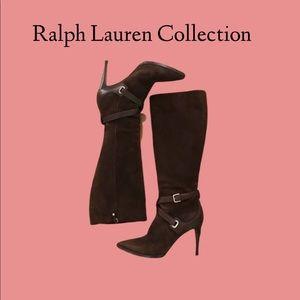 Ralph Lauren Collection EUC brown suede boots 39.5